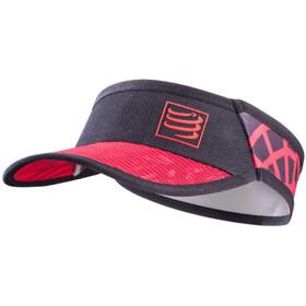 Compressport Spiderweb Ultralight Zonneklep, zwart/rood